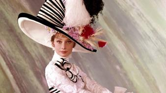 Feathers my fair lady hats gowns b.o.w. wallpaper