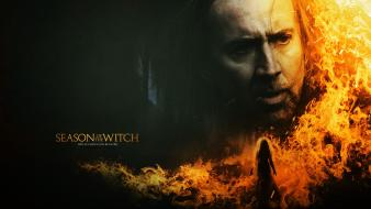 Fire nicholas cage season of the witch wallpaper