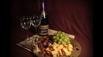 Glass fruits chocolate grapes wine wallpaper