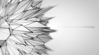 Grey cinema 4d spike wallpaper