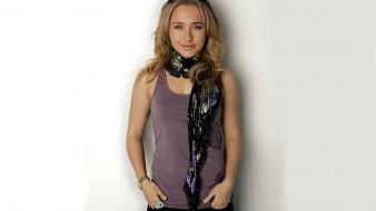 Hayden panettiere celebrity sunglasses scarfs white background wallpaper