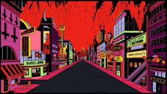 Hell guitars roads stores ugly americans wallpaper