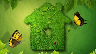 Houses complex magazine ecology natural wallpaper