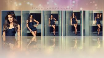 Kate beckinsale collage blue dress wallpaper
