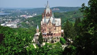 Landscapes castles germany europe castle drachenstein wallpaper