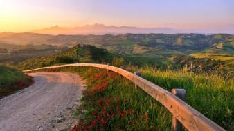 Landscapes nature hills italy roads wallpaper
