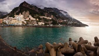 Landscapes nature italy amalfi sea wallpaper
