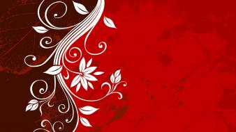 Leaf red grunge vector floral graphics wallpaper