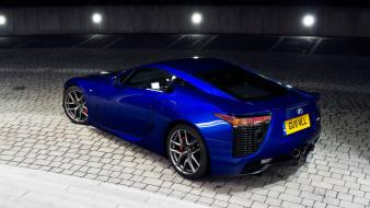 Lexus lfa sports cars blue japanese wallpaper