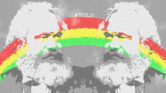 Marijuana rainbows karl marx yolo wallpaper