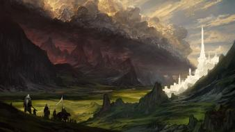 Minas tirith fantasy art darkness artwork osgiliath wallpaper