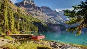 Mountains canada lakes national park Wallpaper
