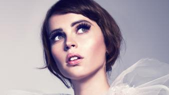 Mouth short hair blush felicity jones eyelashes wallpaper
