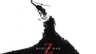 Movies helicopters world war z simple background white wallpaper