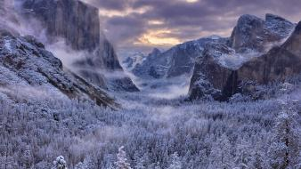 Nature dawn valley california yosemite sierra wallpaper