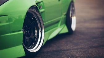 Nissan silvia alloys cars green sports wallpaper