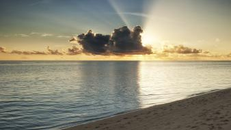 Ocean clouds nature sun beach wallpaper