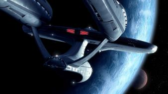 Outer space star trek spaceships enterprise wallpaper