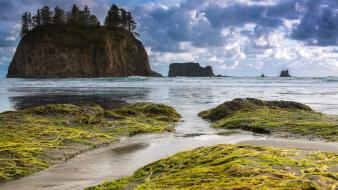 Rocks cliffs usa islands washington sea beach wallpaper