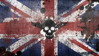 Skulls graffiti flags united kingdom british wallpaper