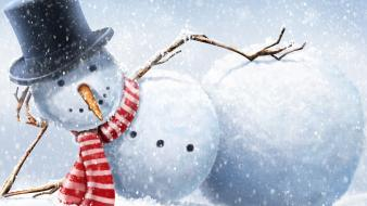 Snowmen christmas snowman wallpaper