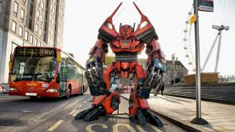 Transformers bus statues wallpaper