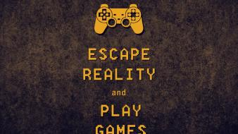 Video games escape reality keep calm and controller wallpaper