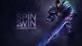 Video games league of legends garen wallpaper