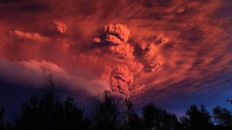 Volcanoes volcano puyehue wallpaper