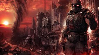 War armor apocalyptic photomanipulation complex magazine natural wallpaper