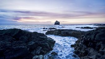 Water landscapes nature waves rocks sea shorelines waterscapes wallpaper