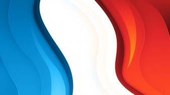 Abstract minimalistic france flags digital art flag of wallpaper