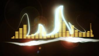 Abstract music deviantart pretty lights Wallpaper