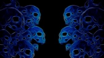 Abstract skulls fractalius wallpaper