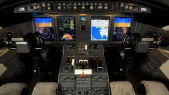 Aircraft cockpit aviation bombardier challenger wallpaper