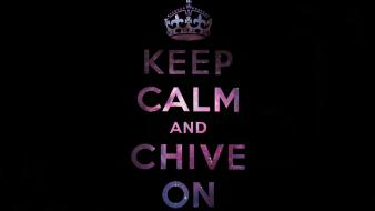 And black background kcco the chive chiveon wallpaper
