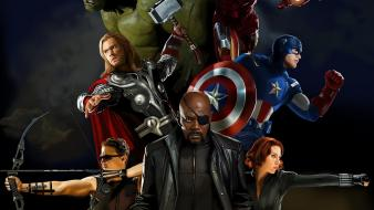 Artwork hawkeye nick fury the avengers (movie) wallpaper