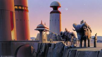 Artwork ralph mcquarrie a new hope tatooine wallpaper