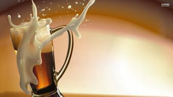 Beers alcohol digital art drinks wallpaper