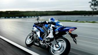 Blue circuits yamaha motorbikes r1 wallpaper