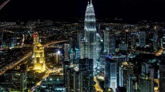 Buildings petronas towers kuala lumpur cities sight malasya Wallpaper