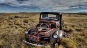 Cars classic wreckage wallpaper