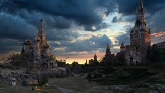 Castles moscow wallpaper