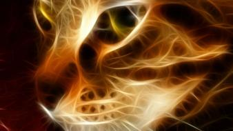 Cats fractalius wallpaper