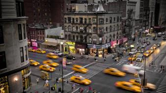 Cityscapes new york city taxi wallpaper