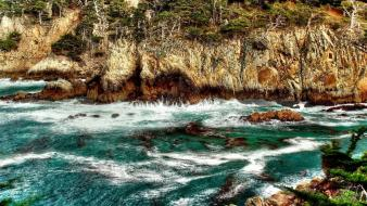 Cliffs hdr photography sea wallpaper