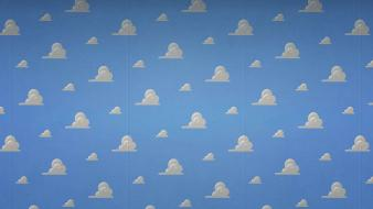 Clouds toy story bedroom wallpaper