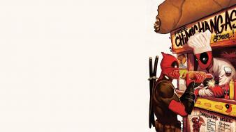 Comics deadpool wade wilson hotdogs wallpaper