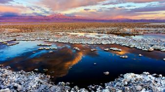 Desert salt flats skies salar de atacama wallpaper