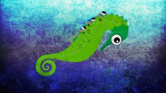Digital art seahorses wallpaper